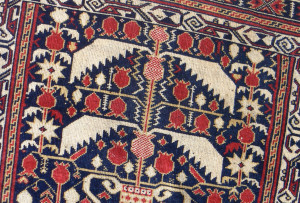 photo of antique rug ready for antique rug and estate appraisal services by Jerry L. Dobesh, ASA