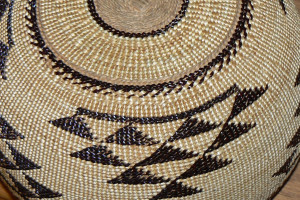 detail photo of Native American basket ready for estate and Native American basket appraisal services by Jerry L. Dobesh, ASA